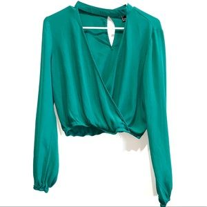 Forever21 Green long sleeve shirt